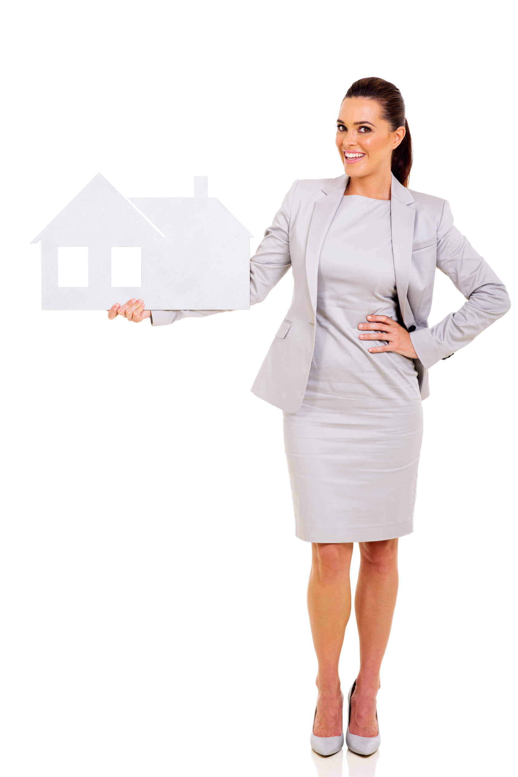 real estate agent holding